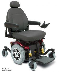 Jazzy 614 HD Heavy Duty Power Wheelchair in Red