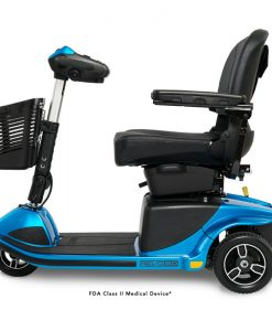 Revo 2.0 3 Wheel Mobility Scooter S66, Side View, Blue