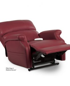 LC-525 Infinite Position Power Lift Chair Recliner in Garnet Ultraleather Fabric | Pride Lift Chairs | My Mobility Store