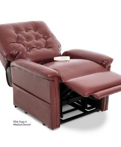 LC-358M Power Lift Chair Recliner in Sta-Kleen® Burgundy | Pride Lift Chairs | My Mobility Store
