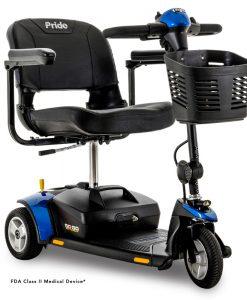 Go-Go Elite Traveller 3 Wheel Travel Scooter in Blue