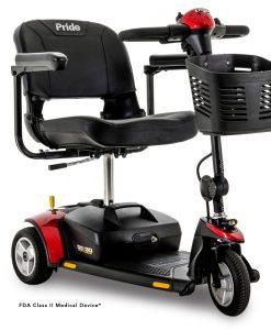 Go-Go Elite Traveller 3 Wheel Travel Scooter in Red