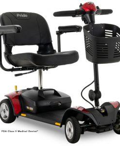Go-Go Elite Traveller 4 Wheel Travel Scooter in Red