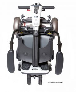 Go-Go Folding Travel Scooter with Armrests, Folded