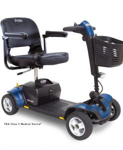 Go-Go Sport 4 Wheel Travel Scooter in Blue | A&J Mobility