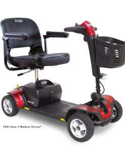 Go-Go Sport 4 Wheel Travel Scooter in Red | A&J Mobility
