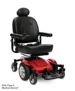 Jazzy Select 6 Power Wheelchair in Red