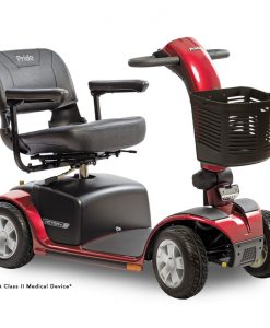 Victory 10 4 Wheel Mobility Scooter, Red