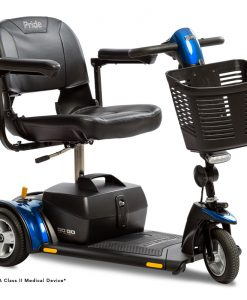 Go-Go Elite Traveller Plus 3 Wheel Travel Scooter in Blue SC54 | Pride Scooters | My Mobility Store