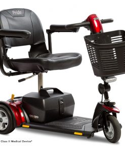Go-Go Elite Traveller Plus 3 Wheel Travel Scooter in Red SC54 | Pride Scooters | My Mobility Store