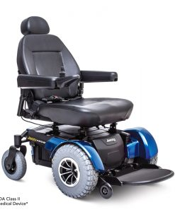Jazzy 1450 HD Heavy Duty Power Wheelchair in Blue | Pride Jazzy Wheelchairs | My Mobility Store