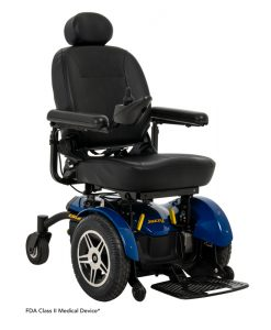 Jazzy Elite 14 Power Wheelchair in Jazzy Blue | Pride Electric Wheelchairs | My Mobility Store