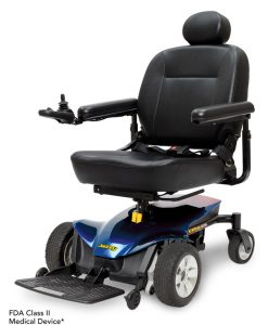 Viper Blue | Jazzy Elite ES Portable Lightweight Power Wheelchair | Pride Electric Wheelchairs | My Mobility Store