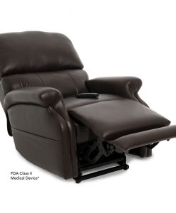 Escape Vivalift Power Recliner in Ultraleather Fudge | Pride Lift Chairs | My Mobility Store