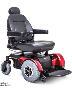 Jazzy 1450 HD Heavy Duty Power Wheelchair in Red | Pride Jazzy Wheelchairs | My Mobility Store