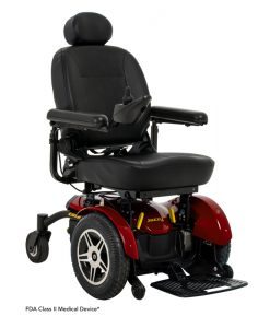 Jazzy Elite 14 Power Wheelchair in Jazzy Red | Pride Electric Wheelchairs | My Mobility Store