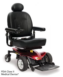 Candy Apple Red | Jazzy Elite ES Lightweight Electric Wheelchair | Pride Jazzy Wheelchairs | My Mobility Store