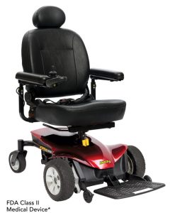 Candy Apple Red | Jazzy Elite ES Portable Lightweight Power Wheelchair | Pride Electric Wheelchairs | My Mobility Store