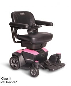 Rose Quartz | Go Chair Portable Travel Power Wheelchair | Pride Jazzy Wheelchairs | My Mobility Store