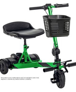 iRide Folding Scooter in Lime with Basket | Pride Scooters | My Mobility Store